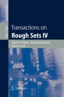 Cover image for Transactions on rough sets IV
