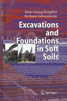 Cover image for Excavations and foundations in soft soils