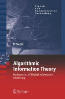Cover image for Algorithmic information theory : mathematics of digital information processing