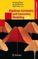 Cover image for Algebraic geometry and geometric modeling