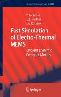 Cover image for Fast simulation of electro-thermal MEMS : efficient dynamic compact models