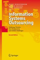 Cover image for Information systems outsourcing : enduring themes, new perspectives, and global challenges