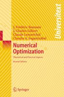 Cover image for Numerical optimization : theoretical and practical aspects