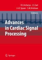 Cover image for Advances in cardiac signal processing