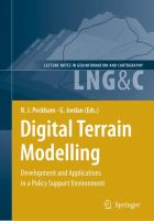 Cover image for Digital terrain modelling : development and applications in a policy support environment