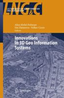 Cover image for Innovations in 3D geo information systems