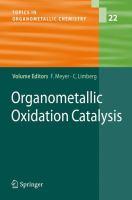 Cover image for Organometallic Oxidation Catalysis