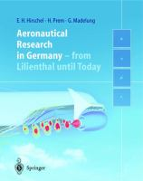 Cover image for Aeronautical research in Germany : from Lilienthal until today