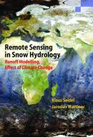Cover image for Remote sensing in snow hydrology : runoff modelling, effect of climate change