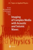 Cover image for Imaging of complex media with acoustic and seismic waves