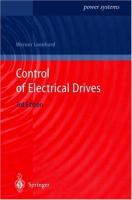 Cover image for Control of electrical drives