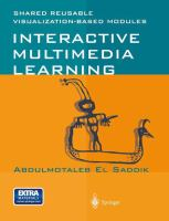 Cover image for Interactive multimedia learning : shared reusable visualization-based modules