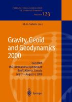 Cover image for Gravity, geoid and geodynamics 2000 : GGG2000 IAG International Symposium, Banff, Alberta, Canada, July 31-August 4, 2000