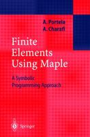 Cover image for Finite elements using maple : a symbolic programming approach