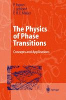 Cover image for The physics of phase transitions : concepts and applications
