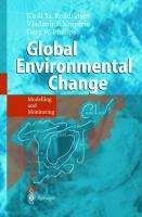 Cover image for Global environmental change :  modelling and monitoring