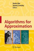 Cover image for Algorithms for Approximation Proceedings of the 5th International Conference, Chester, July 2005