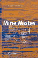 Cover image for Mine Wastes Characterization, Treatment, Environmental Impacts