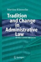 Cover image for Tradition and Change in Administrative Law An Anglo-German Comparison