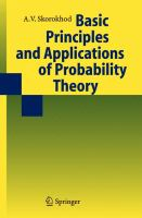 Cover image for Basic principles and applications of probability theory
