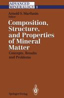 Cover image for Advanced mineralogy
