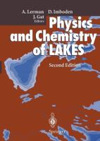 Cover image for Physics and chemistry of lakes
