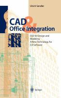 Cover image for CAD and office integration : OLE for design and modeling a new technology for CA software