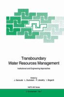 Cover image for Transboundary water resources management : institutional and engineering approaches