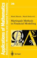 Cover image for Martingale methods in financial modelling