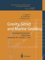 Cover image for Gravity, geoid, and marine geodesy : international symposium, Tokyo, Japan, September 30-October 5, 1996