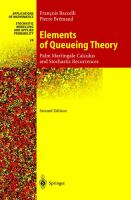 Cover image for Elements of queueing theory :  palm martingale calculus and stochastic recurrences