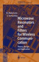 Cover image for Microwave resonators and filters for wireless communication : theory, design, and application