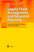 Cover image for Supply chain management and advanced planning : concepts, models, software and case studies