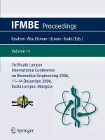 Cover image for 3rd Kuala Lumpur International Conference on Biomedical Engineering 2006 : Biomed 2006, 11-14 December 2006, Kuala Lumpur, Malaysia