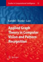 Cover image for Applied graph theory in computer vision and pattern recognition