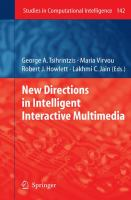 Cover image for New directions in intelligent interactive multimedia