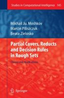 Cover image for Partial covers, reducts and decision rules in rough sets : theory and applications