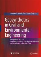 Cover image for Geosynthetics in civil and environmental engineering : geosynthetics Asia 2008 Proceedings of the 4th Asian Regional Conference on Geosynthetics in Shanghai, China