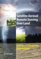 Cover image for Satellite aerosol remote sensing over land