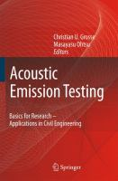 Cover image for Acoustic emission testing