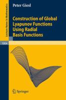 Cover image for Construction of Global Lyapunov Functions Using Radial Basis Functions