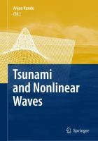 Cover image for Tsunami and nonlinear waves