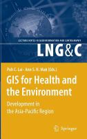 Cover image for GIS for health and the environment : development in the Asia-Pacific Regions