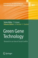 Cover image for Green gene technology :  research in an area of social conflict