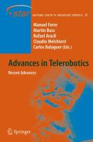 Cover image for Advances in telerobotics