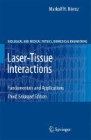 Cover image for Laser-tissue interactions : fundamentals and applications