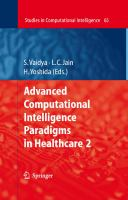 Cover image for Advanced Computational Intelligence Paradigms in Healthcare 2