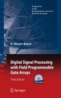 Cover image for Digital signal processing with field programmable gate arrays