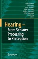 Cover image for Hearing - From Sensory Processing to Perception