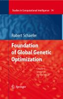 Cover image for Foundations of Global Genetic Optimization